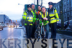 Left to Right Garda Claire Dennehy, Director of Roads, Ger McNamara, Cyclist John L. McElligott, KRSP CoOrdinator Córa Carrigg and  Garda Paula Keating   promoting the be Seen be Safe campaign