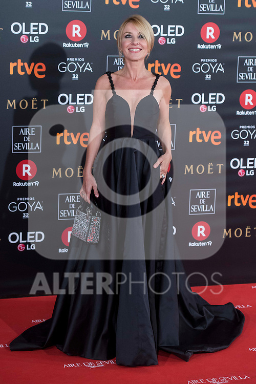 Cayetana Guillen Cuervo attends red carpet of Goya Cinema Awards 2018 at Madrid Marriott Auditorium in Madrid , Spain. February 03, 2018. (ALTERPHOTOS/Borja B.Hojas)