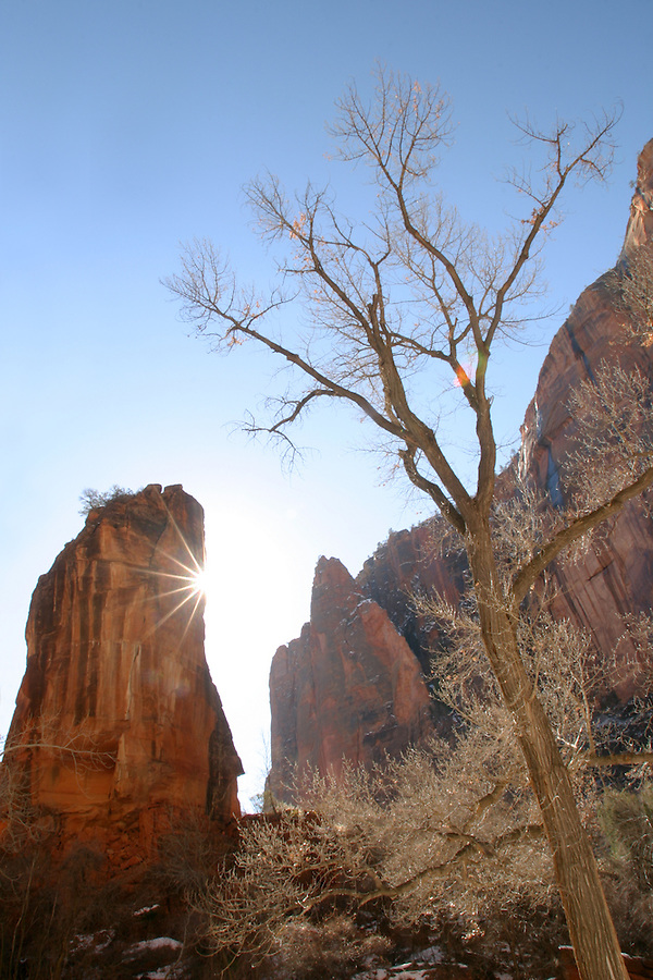 Sunrise over The Pulpit, Zion National Park, Washington County, UT