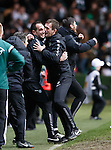 Ronny Deila celebrates with John Kennedy as Celtic snatch a late draw from Inter Milan