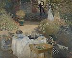Claude Monet - The Luncheon (1873). Paris, musée d'Orsay.