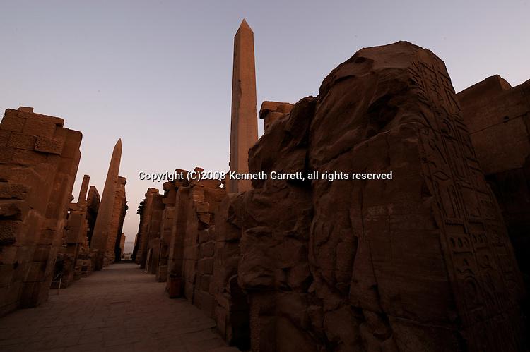 Hatshepsut Egypt, Karnak Temple, Sunrise