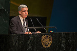 Algeria<br /> <br /> General Assembly Seventy-first session, 25th plenary meeting<br /> 1.  Organization of work, adoption of the agenda and allocation of items: Documentation for the election of the members of the International Law Commission: review of the list of candidates [item 7]<br /> 2.  Implementation of the resolutions of the United Nations [item 120] Revitalization of the work of the General Assembly [item 121]<br />      Joint debate
