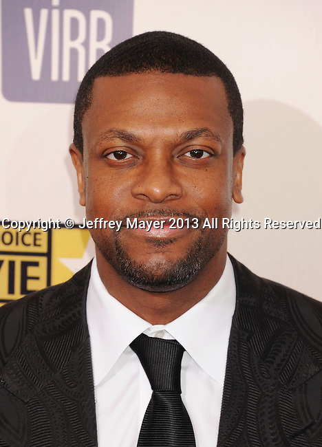 SANTA MONICA, CA - JANUARY 10: Chris Tucker arrives at the 18th Annual Critics' Choice Movie Awards at The Barker Hanger on January 10, 2013 in Santa Monica, California.