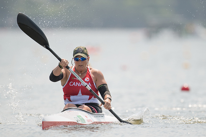 RIO DE JANEIRO - 14/9/2016: Christine Gauthier competes in the Women's KL2 Canoe Sprint at the Lagoa Stadium during the Rio 2016 Paralympic Games in Rio de Janeiro, Brazil. (Photo by Matthew Murnaghan/Canadian Paralympic Committee)