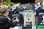 A Tottenham Hotspur fan takes photo's of memorabillia outside the stadium. English Premier League match at the White Hart Lane Stadium, London. Picture date: April 30th, 2017.Pic credit should read: Robin Parker/Sportimage