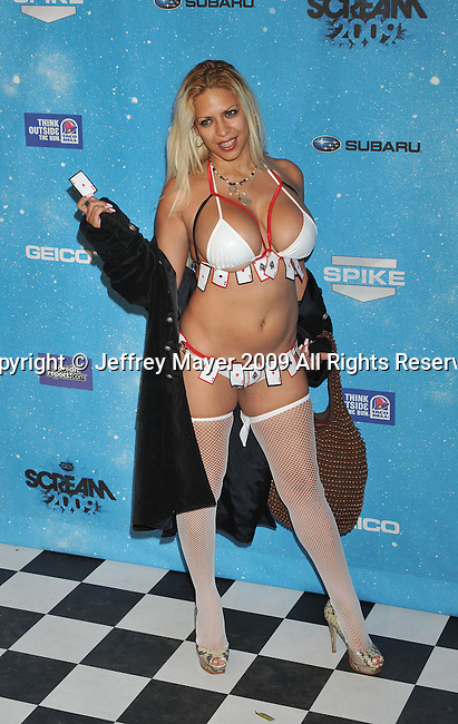 LOS ANGELES, CA. - October 17:  Dita DeLeon arrives at Spike TV's Scream 2009 held at the Greek Theatre on October 17, 2009 in Los Angeles, California.