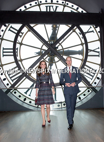 No UK Use For 28 Days - Until 14th April 2017<br />17.03.2017; Paris, FRANCE: DUKE &amp; DUCHESS OF CAMBRIDGE <br />visit the Musee D'Orsay on the second day of their official visit to Paris.<br />Mandatory Photo Credit: &copy;NEWSPIX INTERNATIONAL<br /><br />IMMEDIATE CONFIRMATION OF USAGE REQUIRED:<br />Newspix International, 31 Chinnery Hill, Bishop's Stortford, ENGLAND CM23 3PS<br />Tel:+441279 324672  ; Fax: +441279656877<br />Mobile:  07775681153<br />e-mail: info@newspixinternational.co.uk<br />Usage Implies Acceptance of OUr Terms &amp; Conditions<br />Please refer to usage terms. All Fees Payable To Newspix International