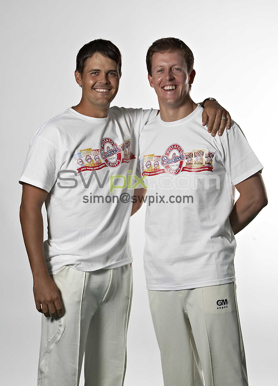 PICTURE BY VAUGHN RIDLEY/SWPIX.COM - Cricket - Yorkshire CCC Media Photo Call - Headingley, Leeds, England - 08/04/09...Copyright - Simon Wilkinson - 07811267706...Yorkshire's Jacques Rudolph and Joe Sayers. Seabrooks Crisps.