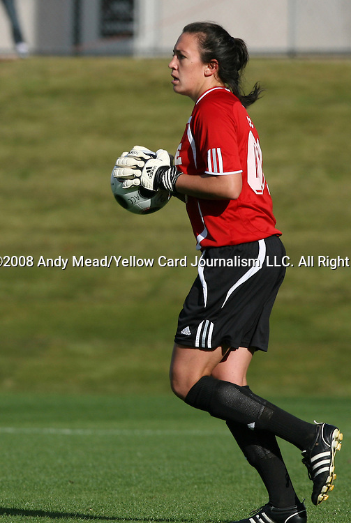 05 November 2008: Duke's Cassidy Powers. Boston College defeated Duke University 1-0 at Koka Booth Stadium at WakeMed Soccer Park in Cary, NC in a women's ACC tournament quarterfinal game.