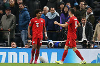 Serge Gnabry of Bayern Munich celebrates scoring the fifth goal during Tottenham Hotspur vs FC Bayern Munich, UEFA Champions League Football at Tottenham Hotspur Stadium on 1st October 2019