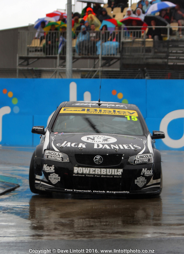 Rick Kelly takes the hairpin during race one. V8 Supercars - ITM 400 day two at Hamilton Street Circuit, Hamilton, New Zealand on Saturday, 16 April 2011. Photo: Dave Lintott / lintottphoto.co.nz