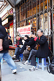 USA, California, San Francisco, musicians play music on the street in China town