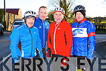 CYCLE: Frances Foley of the Chain Gang cycling club with Philip Tindall, Aidan Silles and John Foley of the Banna leisure centre at the Jimmy Duffy Memorial Cycle in Blennerville on Saturday.