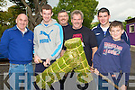 THROWING: Taking part in Sheaf Throwing at O'Riada's Bar Car park on Sunday L-r: Denis Cremins, Daniel Breen, William Leane, John Lyons, Joshua Kelly and Michael Cremins..