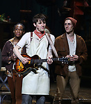 Kimberly Marable, Reeve Carney and John Krause  during Broadway Opening Night Performance Curtain Call for 'Hadestown' at the Walter Kerr Theatre on April 17, 2019 in New York City.