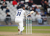 7th September 2017, Emirates Old Trafford, Manchester, England; Specsavers County Championship, Division One; Lancashire versus Essex; Adam Wheater of Essex at the crease during the afternoon session