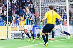 Stockholm 2014-04-27 Fotboll Allsvenskan Djurg&aring;rdens IF - IF Brommapojkarna :  <br /> Djurg&aring;rdens Aleksandar Prijovic jublar efter att ha gjort 3-2 f&ouml;r Djurg&aring;rden i den andra halvleken<br /> (Foto: Kenta J&ouml;nsson) Nyckelord:  Djurg&aring;rden DIF Tele2 Arena Brommapojkarna BP jubel gl&auml;dje lycka glad happy
