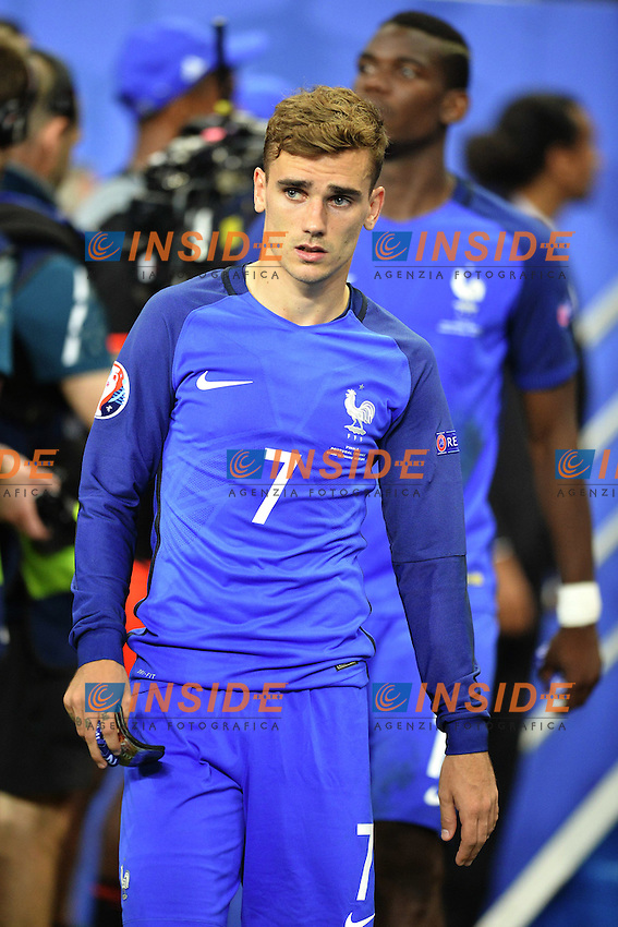 Delusione Francia Antoine Griezmann ( France ) Paul Pogba<br /> Paris 10-07-2016 Stade de France Football Euro2016 Portugal - France / Portogallo - Francia Finale/Finals<br /> Foto Anthony BIBARD/ Panoramic / Insidefoto