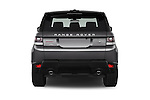 Straight rear view of a 2015 Land Rover RANGE ROVER SPORT HSE Dynamic 5 Door SUV Rear View  stock images