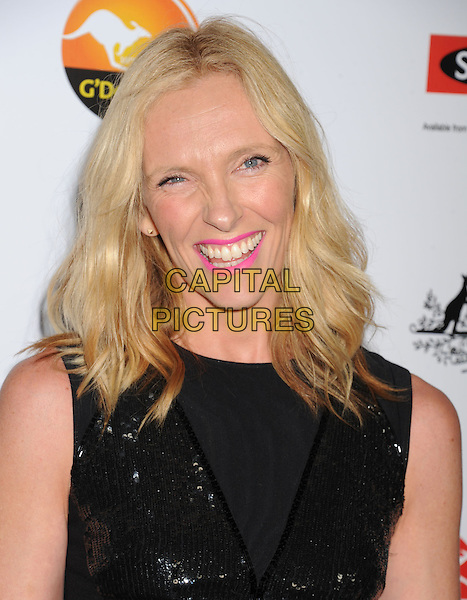 Toni Collette.at The G'Day USA Black Tie Gala held at The JW Marriot at LA Live in Los Angeles, California, USA..January 12th 2013.portrait headshot black  pink lipstick make-up beauty sleeveless smiling sequins sequined .CAP/ROT/TM.©Tony Michaels/Roth Stock/Capital Pictures