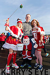 Pictured at the Santa Fun Run, in aid of Barretstown, starting from the Tralee Bay Wetlands, on Sunday last, were l-r: Marilyn O'Shea, Stephen Byrne and Cilla Beer.