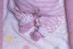 Baby asleep in cradle