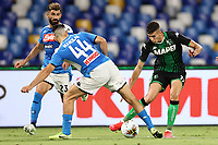 Kostantinos Manolas of SSC Napoli and Mert Muldur US Sassuolo \com<br /> during the Serie A football match between SSC  Napoli and US Sassuolo at stadio San Paolo in Naples ( Italy ), July 25th, 2020. Play resumes behind closed doors following the outbreak of the coronavirus disease. <br /> Photo Cesare Purini / Insidefoto