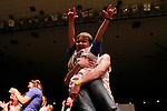 """Mason, 7, sings to """"Break your Heart"""" during the talent show at DanceBlue on March 3, 2012 in Memorial Coliseum."""
