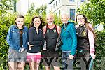 At the Tralee Ultra 100k marathon on Sunday were l-r  Leah Horan, Angela Horan, Martin O'Sullivan, Michelle O'Sullivan and Tasha O'Sullivan
