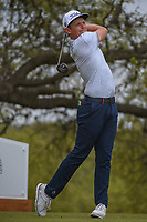 Cameron Smith (USA) watches his tee shot on 10 during day 3 of the World Golf Championships, Dell Match Play, Austin Country Club, Austin, Texas. 3/23/2018.<br /> Picture: Golffile | Ken Murray<br /> <br /> <br /> All photo usage must carry mandatory copyright credit (&copy; Golffile | Ken Murray)