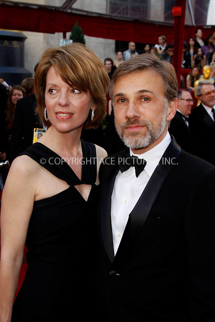 WWW.ACEPIXS.COM . . . . .  ....March 7 2010, Hollywood, CA....Actor Christoph Waltz and partner Judith Holste at the 82nd Annual Academy Awards held at Kodak Theatre on March 7, 2010 in Hollywood, California.....Please byline: Z10-ACE PICTURES... . . . .  ....Ace Pictures, Inc:  ..Tel: (212) 243-8787..e-mail: info@acepixs.com..web: http://www.acepixs.com