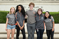 Occidental College Residential Education & Housing Services staff, photographed outside the Johnson Student Center, Aug. 23, 2017.<br /> (Photo by Marc Campos, Occidental College Photographer)