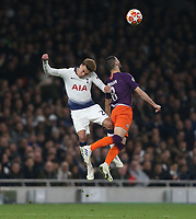 Tottenham Hotspur's Dele Alli and Manchester City's Ilkay Gundogan<br /> <br /> Photographer Rob Newell/CameraSport<br /> <br /> UEFA Champions League Quarter-finals 1st Leg - Tottenham Hotspur v Manchester City - Tuesday 9th April 2019 - White Hart Lane - London<br />  <br /> World Copyright © 2018 CameraSport. All rights reserved. 43 Linden Ave. Countesthorpe. Leicester. England. LE8 5PG - Tel: +44 (0) 116 277 4147 - admin@camerasport.com - www.camerasport.com