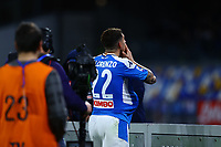 29th February 2020; Stadio San Paolo, Naples, Campania, Italy; Serie A Football, Napoli versus Torino; Giovanni Di Lorenzo of Napoli celebrates after scoring in the 82nd minute for 2-0