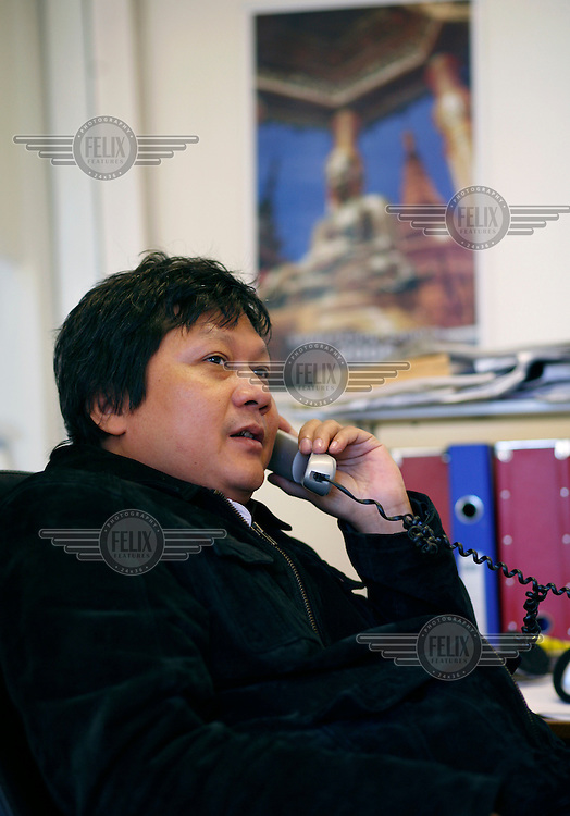 News editor Moe Aye. Democratic Voice of Burma is radio and TV station run by exiled Burmese. Opposing the government, the DVB has been transmitting, from the Norwegian capitol Oslo, into Burma since 1992.