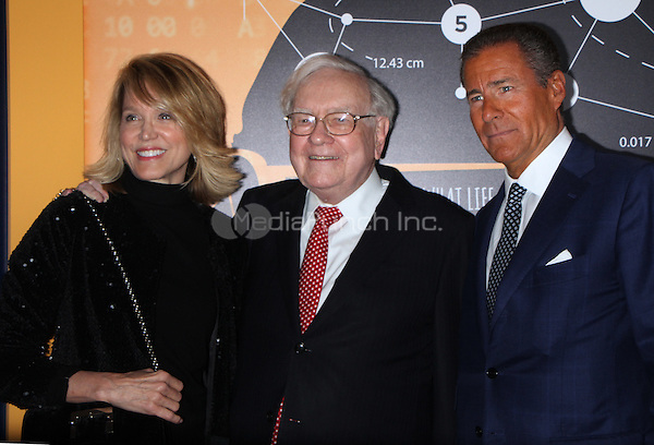 NEW YORK, NY January 19, 2017:Deborah Norville, Warren Buffett, Richard Plepler, attend the   HBO Documentart presents the World Premiere screening of Becoming Warren Buffett at Museum of Modern Art in New York .January 19, 2017. Credit:RW/MediaPunch