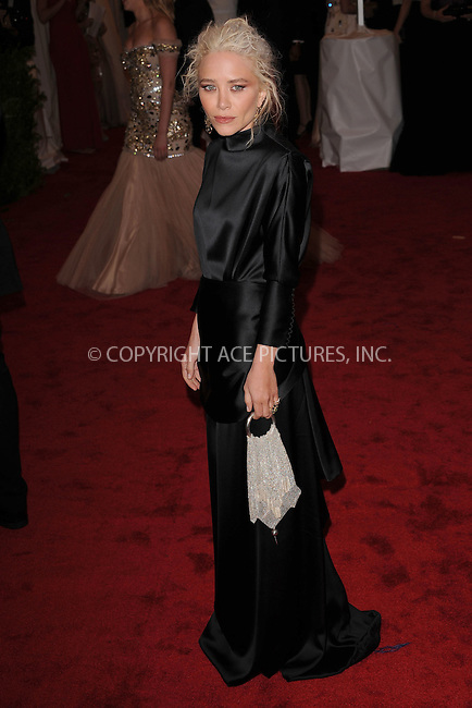 "WWW.ACEPIXS.COM . . . . . .May 7, 2012...New York City.....Mary-Kate Olsen attending the ""Schiaparelli and Prada: Impossible Conversations"" Costume Institute Gala at The Metropolitan Museum of Art in New York City on May 7, 2012  in New York City ....Please byline: KRISTIN CALLAHAN - ACEPIXS.COM.. . . . . . ..Ace Pictures, Inc: ..tel: (212) 243 8787 or (646) 769 0430..e-mail: info@acepixs.com..web: http://www.acepixs.com ."