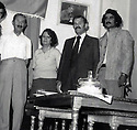Iran 1960.Left, Ihsan Nuri Pasha and Yashar, his wife and 3rd from left Rozbayani in Tehran.Iran 1960.A gauche, Ihsan Nouri Pacha et sa femme Yashar avec 3eme a gauche,  Rozbayani a Teheran<br /> ئیران 1960 , له لای چه په وه بو راست: ئیحسان نوری پاشا و یاشارخیزانی نوری پاشا,له لای راسته وه روژبه یانی له تاران دا