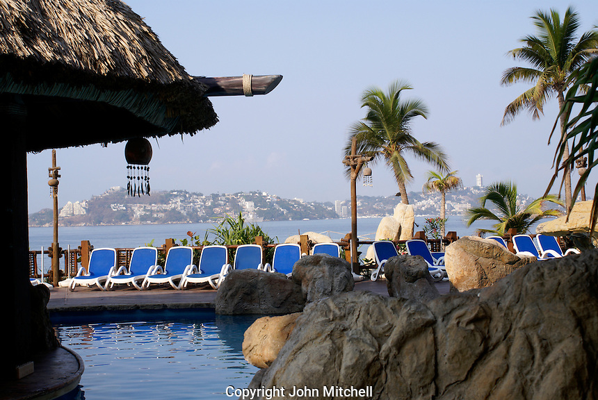Hotel swimming pool in Acapulco, Mexico