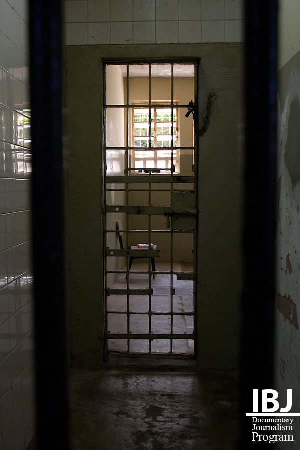 An empty chair sits in an otherwise overcrowded Floramar Prison which is currently over twice its capacity with 500 inmates. IBJ Fellow Dr. Saliba is hoping to inform the accused of their rights to habeas corpus which protects them and others they know from ilegal internment in Brazil's overcrowded penal system.