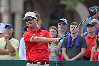 Zach Johnson (USA) watches his tee shot on 1 during round 3 of The Players Championship, TPC Sawgrass, at Ponte Vedra, Florida, USA. 5/12/2018.<br /> Picture: Golffile | Ken Murray<br /> <br /> <br /> All photo usage must carry mandatory copyright credit (&copy; Golffile | Ken Murray)