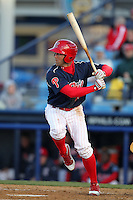 Reading Phillies outfielder Steve Susdorf #25 during a game against the Portland Seadogs at FirstEnergy Stadium on April 7, 2012 in Reading, Pennsylvania.  Reading defeated Portland 4-1.  (Mike Janes/Four Seam Images)