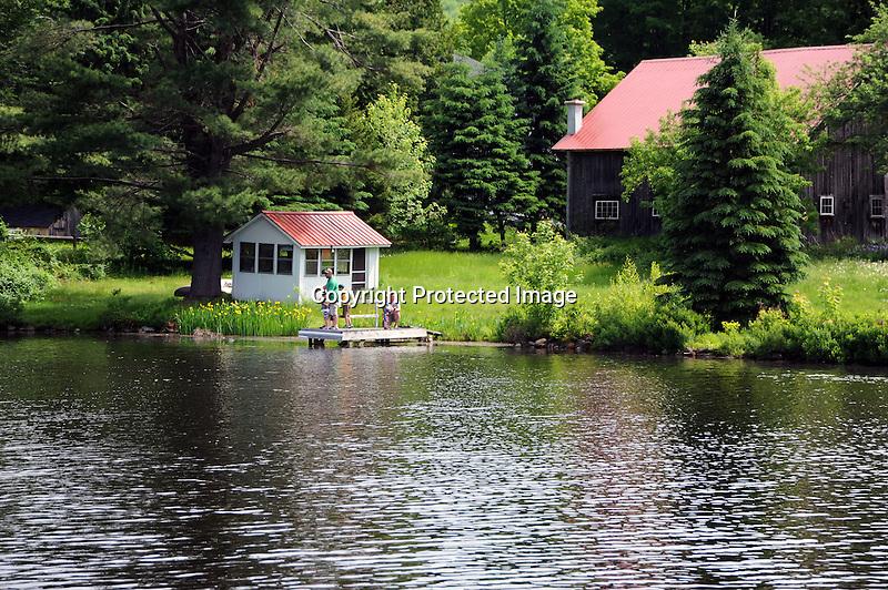 Family Enjoying Fishing in New Hampshire