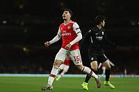 28th November 2019; Emirates Stadium, London, England; UEFA Europa League Football, Arsenal versus Frankfurt; Gabriel Martinelli of Arsenal reacts as his shot goes wide - Editorial Use