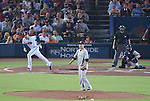 Masahiro Tanaka (Yankees), AUGUST 28, 2015 - MLB : Pitcher Masahiro Tanaka of the New York Yankees reacts after giving up a home run to Freddie Freeman of the Atlanta Braves in the third inning during the Major League Baseball Interleague game at Turner Field in Atlanta, Georgia, United States. (Photo by AFLO)