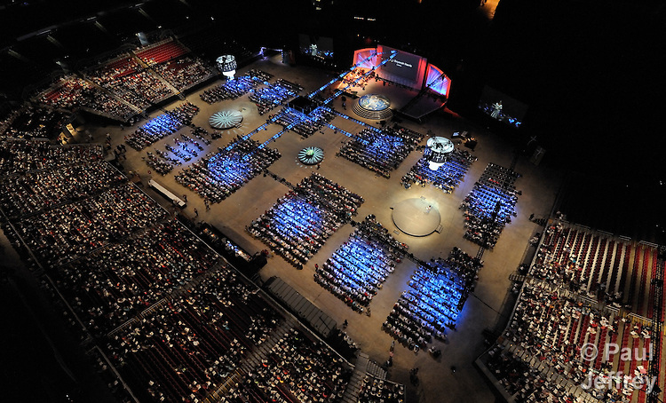 An aerial view of the 2010 United Methodist Women's Assembly in St. Louis, Missouri.