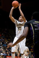 Allen Crabbe of California shoots the ball during the game against Washington at Haas Pavilion in Berkeley, California on January 9th, 2013.   Washington defeated California, 62-47.
