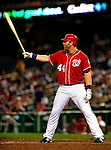 22 August 2009: Washington Nationals' first baseman Adam Dunn in action against the Milwaukee Brewers at Nationals Park in Washington, DC. The Nationals fell to the Brewers 11-9 in the second game of their four-game series. Mandatory Credit: Ed Wolfstein Photo
