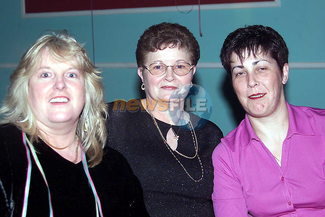 Nuala Hatch, Killineer, Patricia McKeown, Hillview and Noeleen Kinsella, Mell at the Bissell farewell party in the O'Raghallaigh's..Picture: Paul Mohan/Newsfile